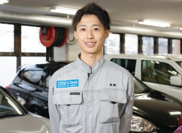 一級自動車整備科 髙橋さん