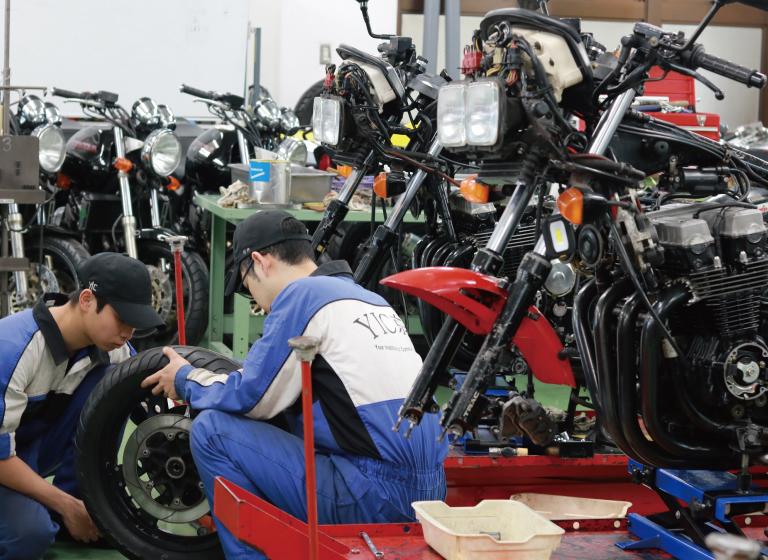 二級二輪自動車整備士の資格も取得できます。
