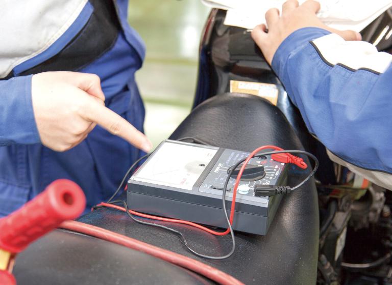 二輪電装実習