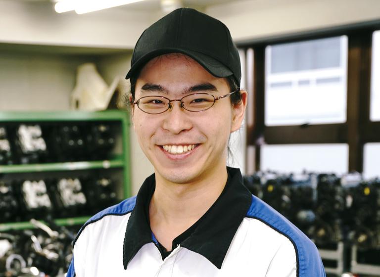 二輪自動車整備科 上田さん