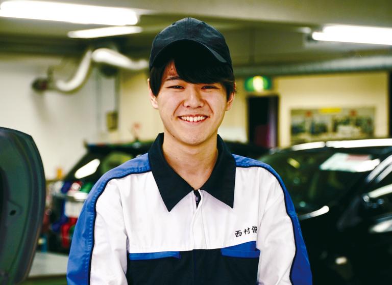 自動車整備科 西村さん
